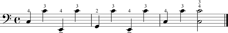 Counte rbass notation