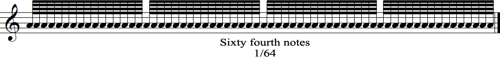 Sixty fourth notes