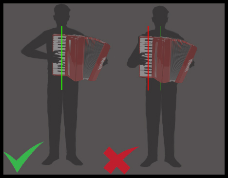 How to hold the accordion