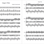 Ginger's Waltz sheet music